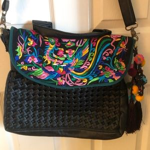 Colorful Crossbody Bag w cool details